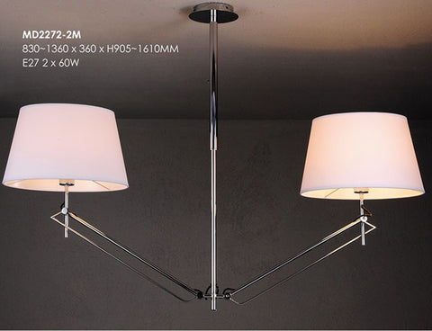 Modern 2 Light Rotating Chandelier
