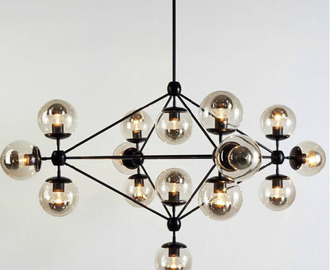 Industrial Retro Spider Glass Chandelier