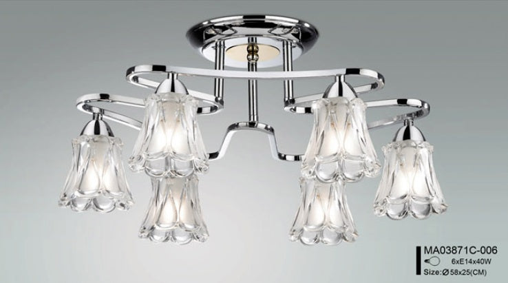 Modern 6 Light Pendant Lamp