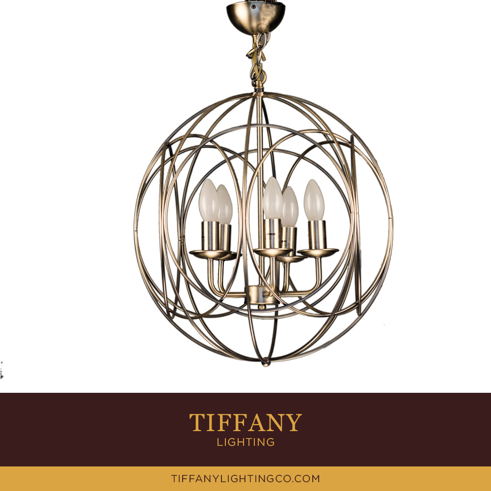 Bronze Round Modern Pendant Light