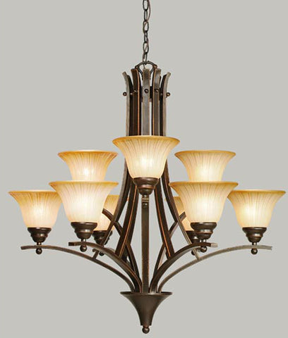 American 9-Light Chandelier