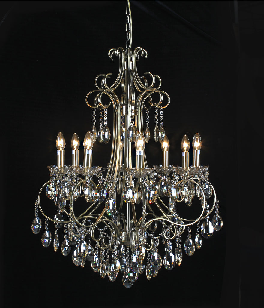 Classic Champagne Crystal 8 Light Chandelier