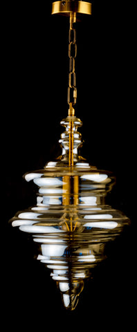 Modern Blown Glass Pendant Light