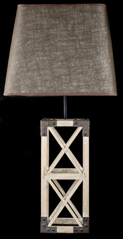 Stunning Wooden Rustic Table Lamp