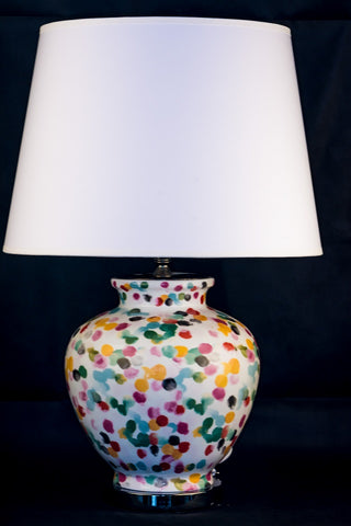 Ceramic Color Dots Table Lamp