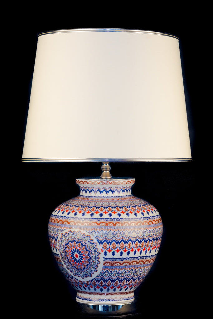 Ceramic Oriental Pattern Table Lamp