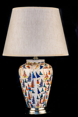 Modern Ceramic Sail Boat Table Lamp