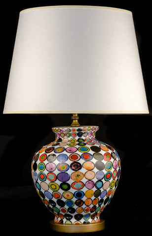 Modern Ceramic Color Circles Table Lamp