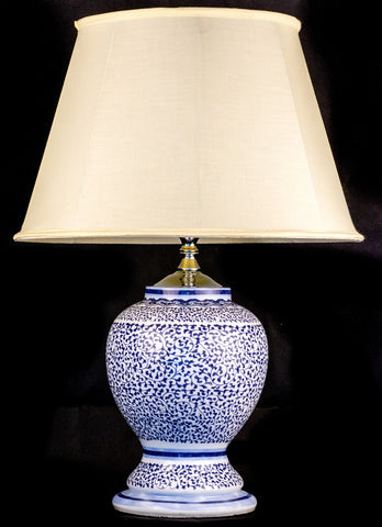 Oriental Blue Ceramic Table Lamp