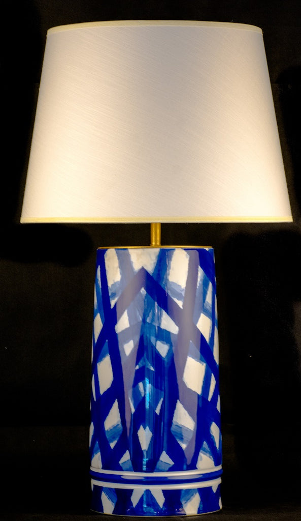 Modern Blue Abstract Ceramic Table Lamp