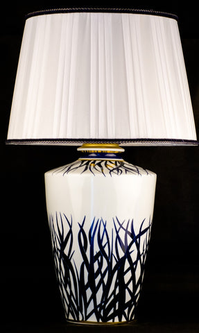 Blue Leaves Ceramic Table Lamp