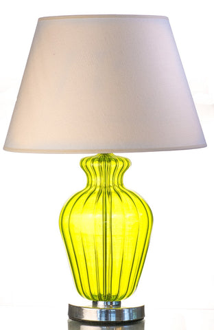 Modern Green Olive Pyrex Glass Table Lamp