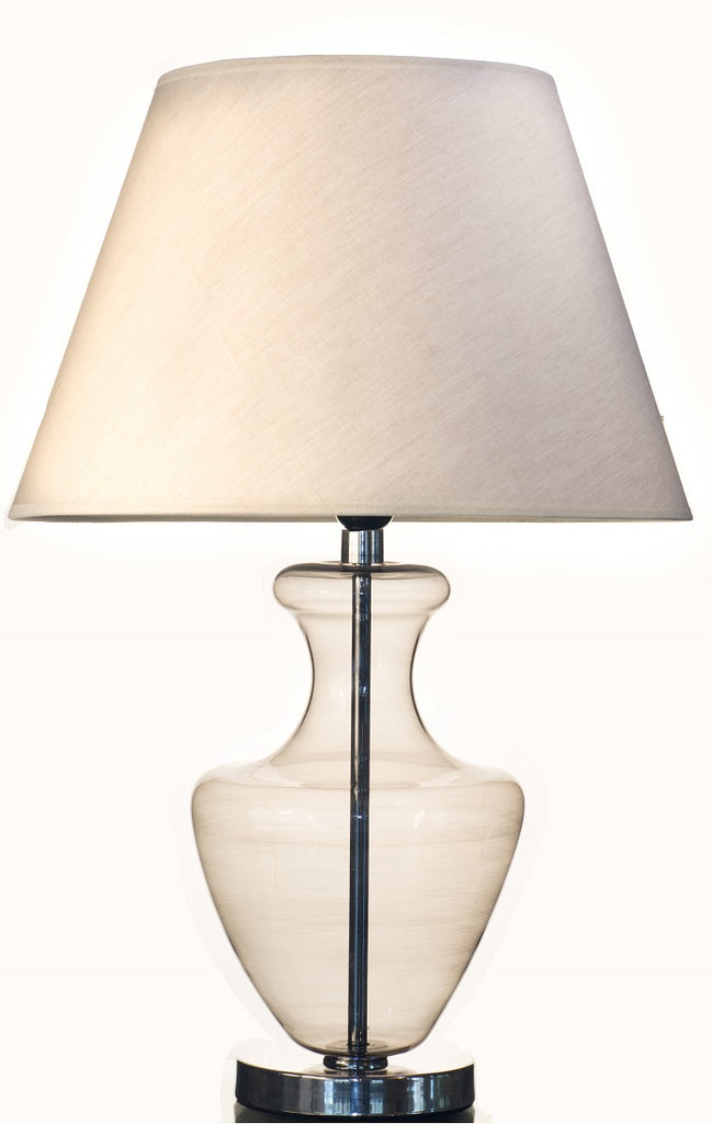 Modern Light Grey Pyrex glass Table Lamp