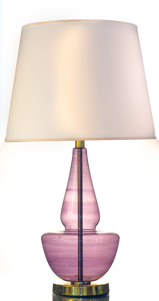 Light Purple Modern Pyrex Glass Table Lamp