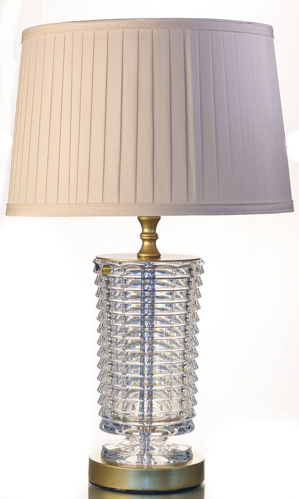 Clear Bohemian Crystal Table Lamp