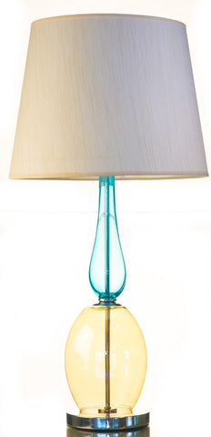Modern Colorful Glass Table Lamp