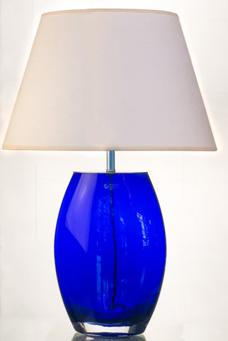 Royal Blue Glass Table Lamp
