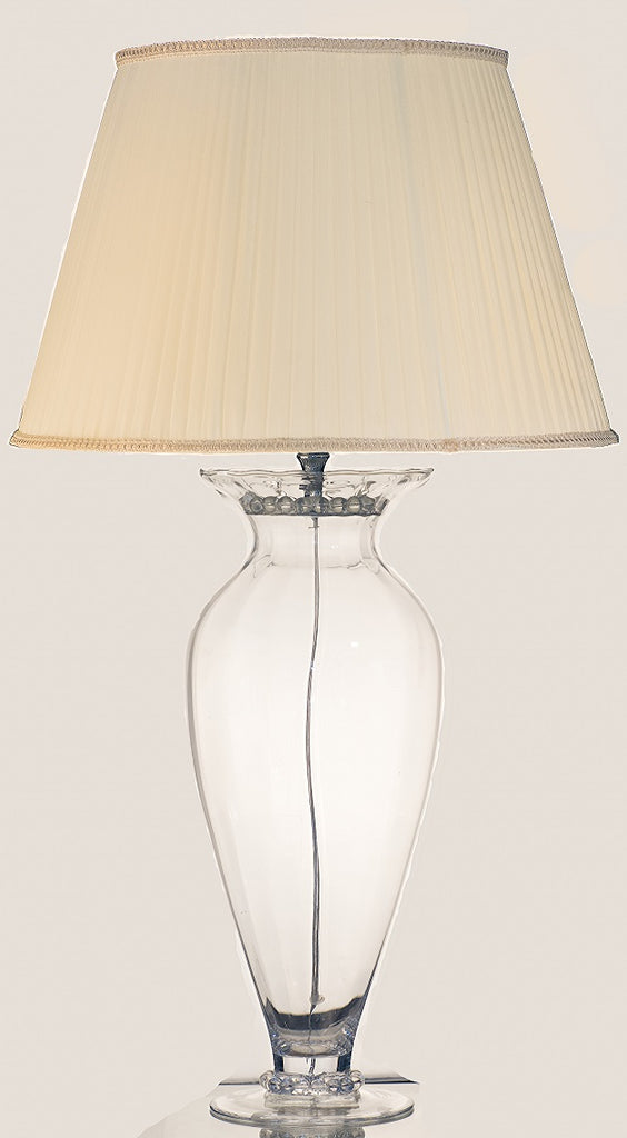 Large Clear Pyrex Glass Vase Table Lamp