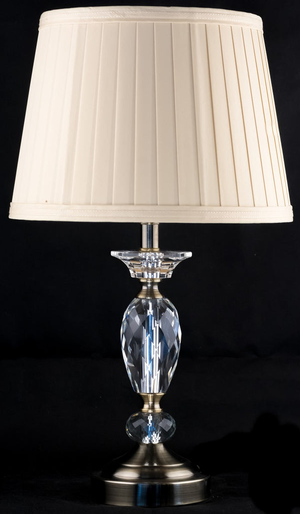 Bronze and Crystal Classic Table Lamp