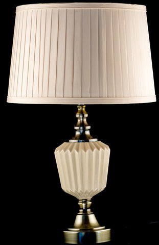 Bronze and Beige Ceramic Table Lamp
