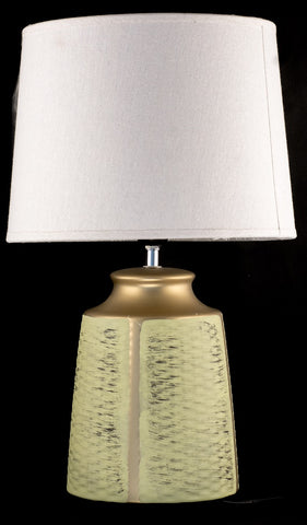 Neo Classic Green and Bronze Ceramic Table Lamp