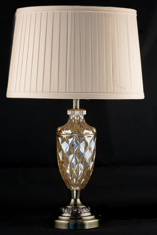 Bronze and Amber Glass Table lamp
