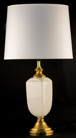 Ivory White Ceramic Table Lamp