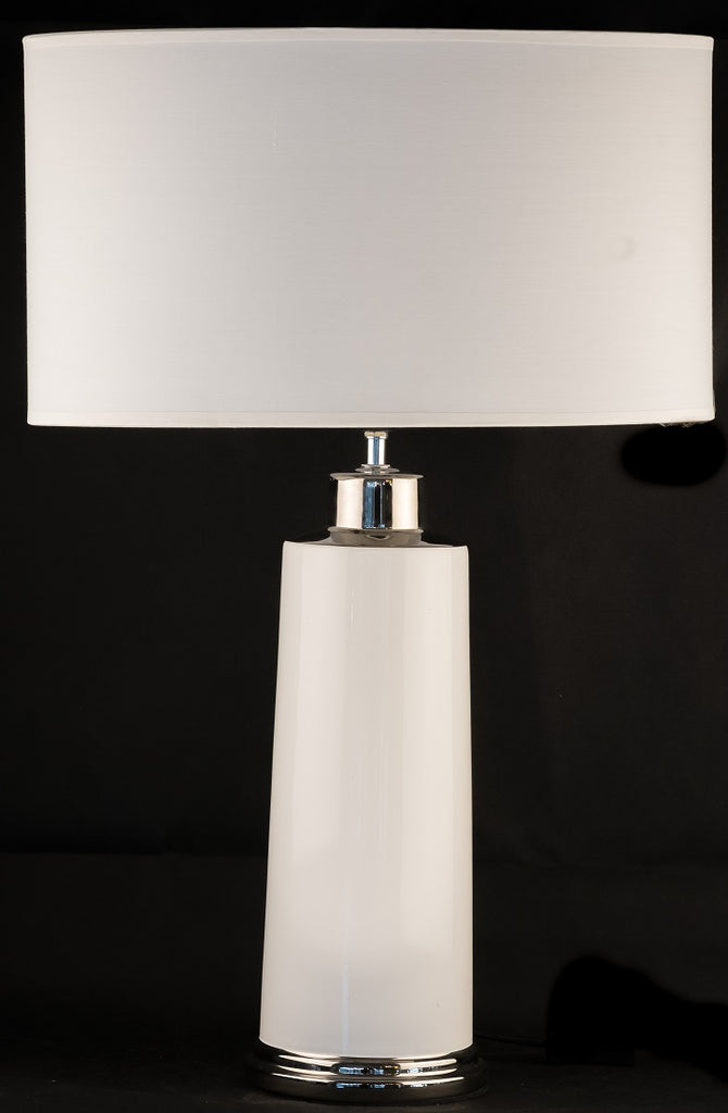 Modern White Ceramic Table Lamp