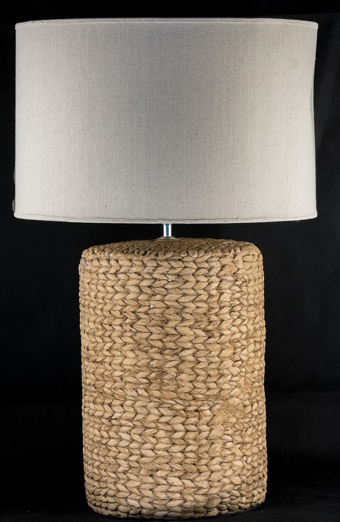 Ceramic Rattan Brown Table Lamp