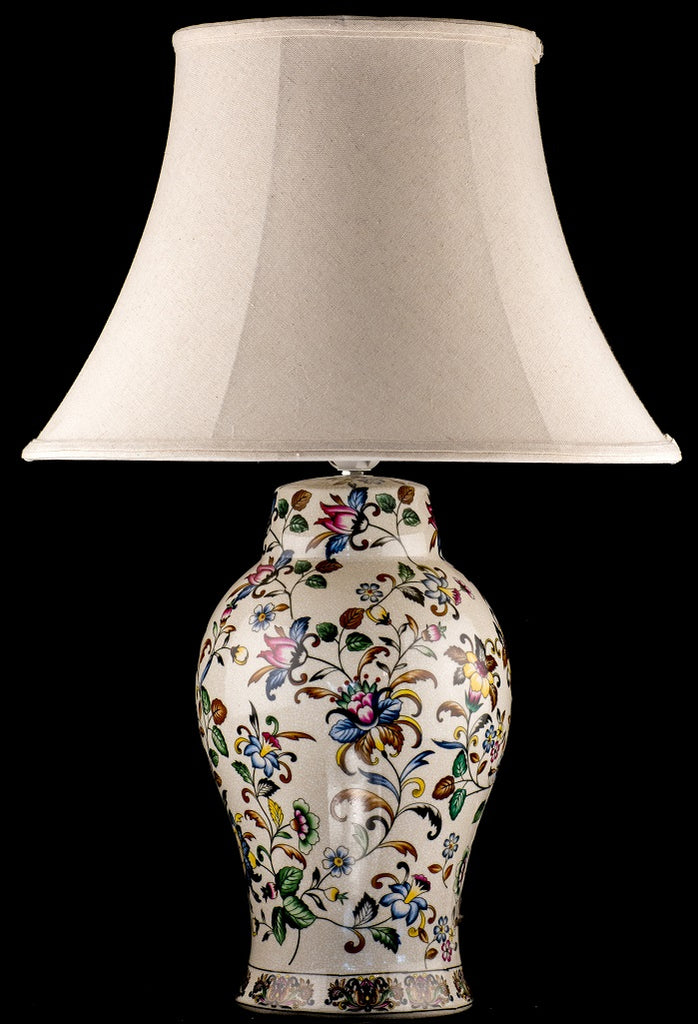 Oriental Flowers Ceramic Table lamp
