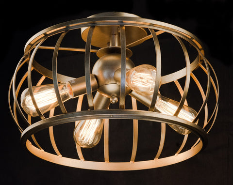 Modern Retro 4 Light Bronze Ceiling Lamp