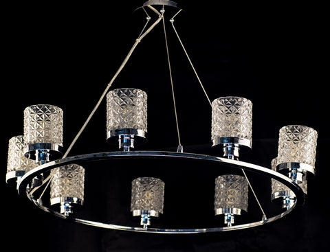 Modern 8 Light Chandelier