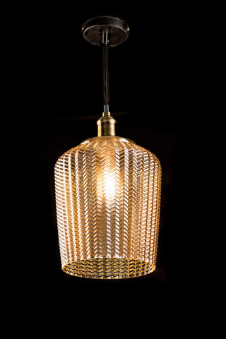 Amber Modern Glass Pendant Light