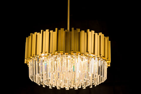 Golden Crystal Chic Pendant Light