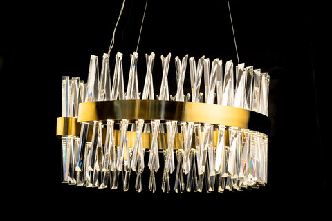Classic Crystal golden LED chandelier