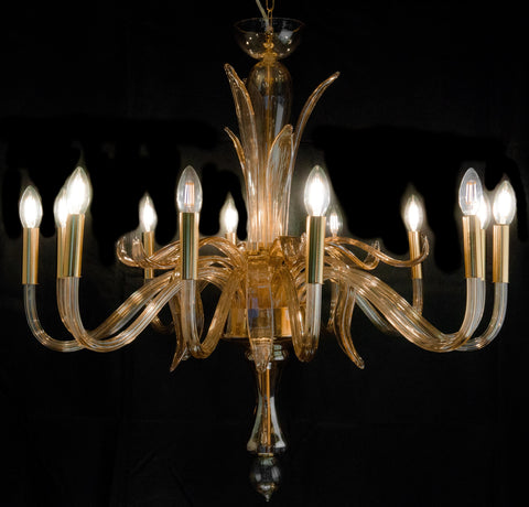 Amber Color Murano Luxurious Chandelier