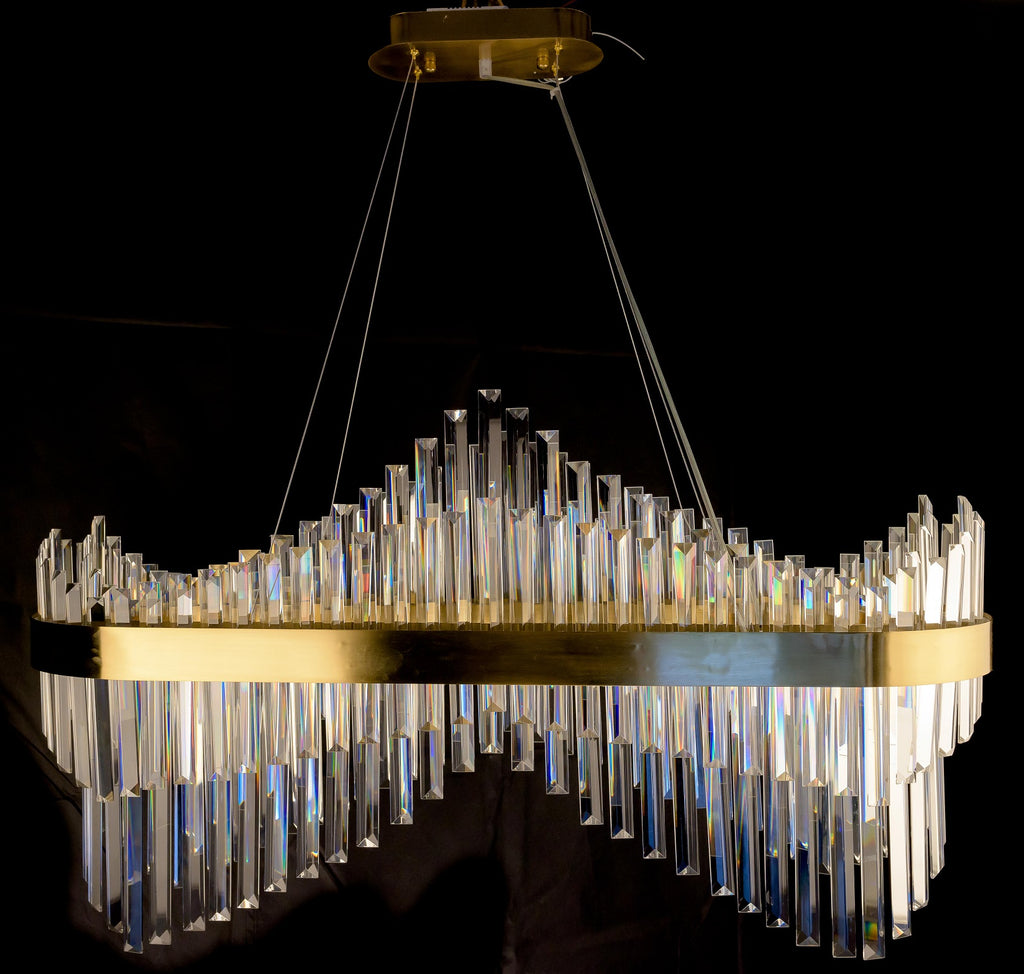 Golden Stylish LED Crystal Chandelier