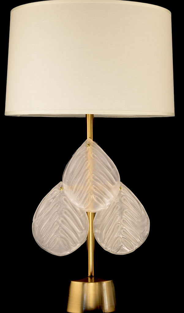 Modern Glass Leaves Table Lamp