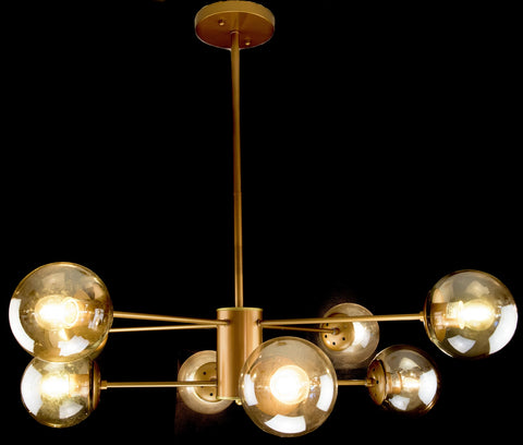 Retro 8 Light Golden Chandelier