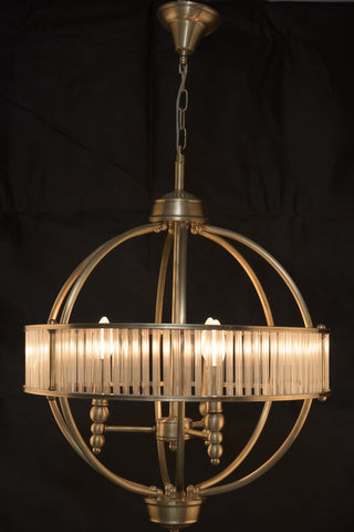 MODERN CHIC 3 LIGHT PENDANT BRONZE FINISH