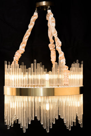Modern Nordic Glass Rod Pendant Light