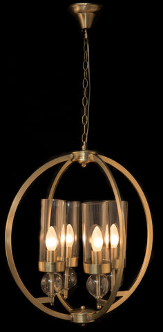 4 Light Modern Round Pendant Light