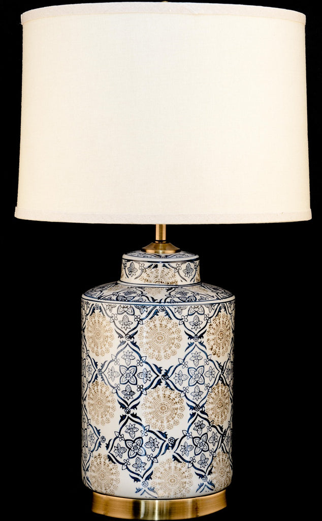Oriental Ceramic Blue Table Lamp