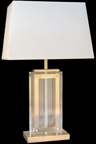 Solid Crystal Bronze Table Lamp