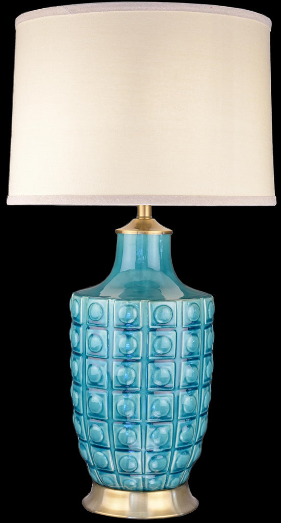 Beautiful Turquoise Ceramic Table Lamp
