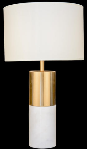 Modern Bronze and Marble Table Lamp
