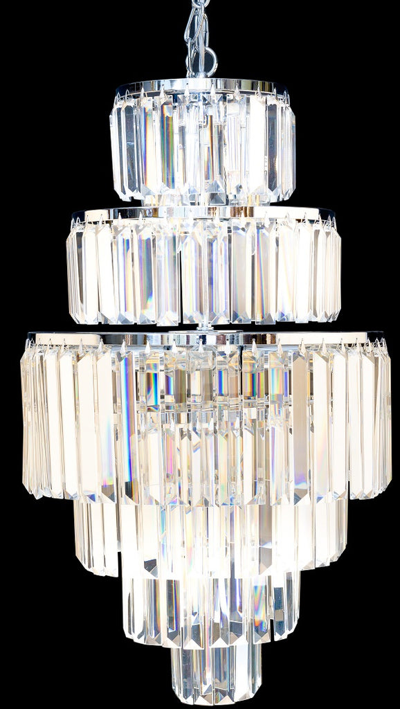 Classic Chic Crystal Chrome Pendant Light