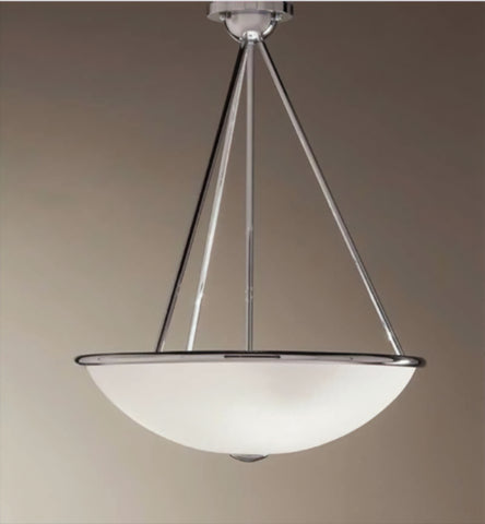 Modern 3 Light Chrome Pendant Light