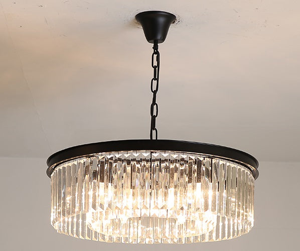 Modern Loft Black Crystal Pendant Light
