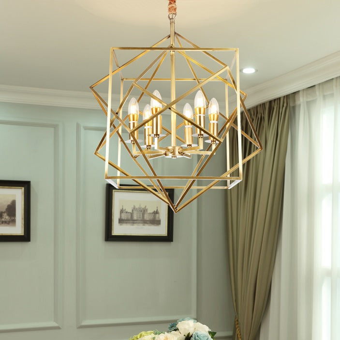 Gold Modern Geometric Pendant Light